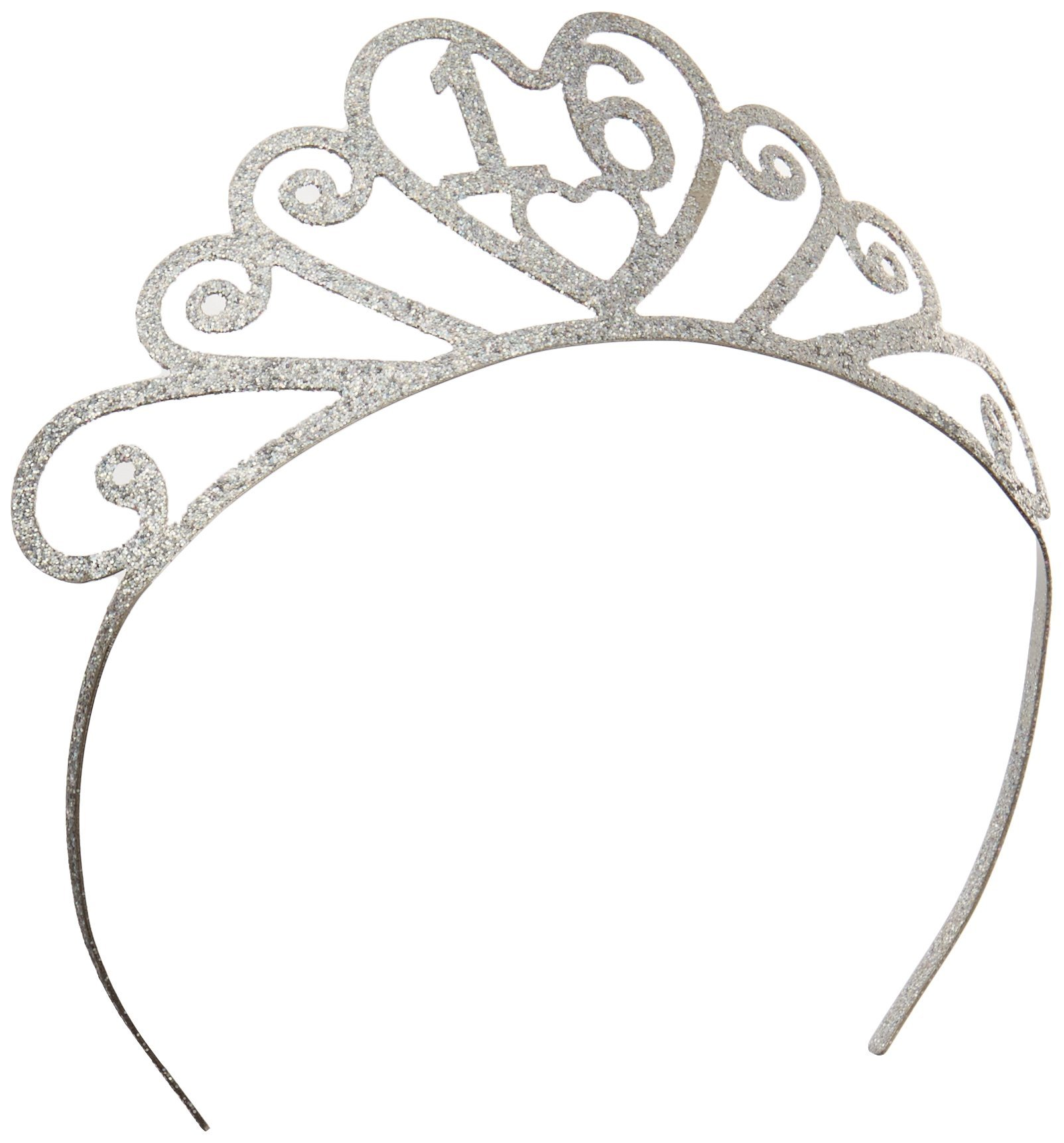 Beistle 60633-16 Glittered Metal 16 Tiara Party Décor