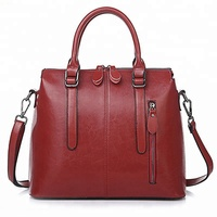 2018 china supplier new arrival luxury women tote shoulder bag genuine leather handbags