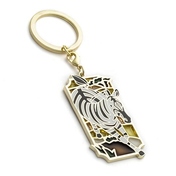 Personalized blank elephant animal souvenir christmas stainless steel cute custom metal keychain