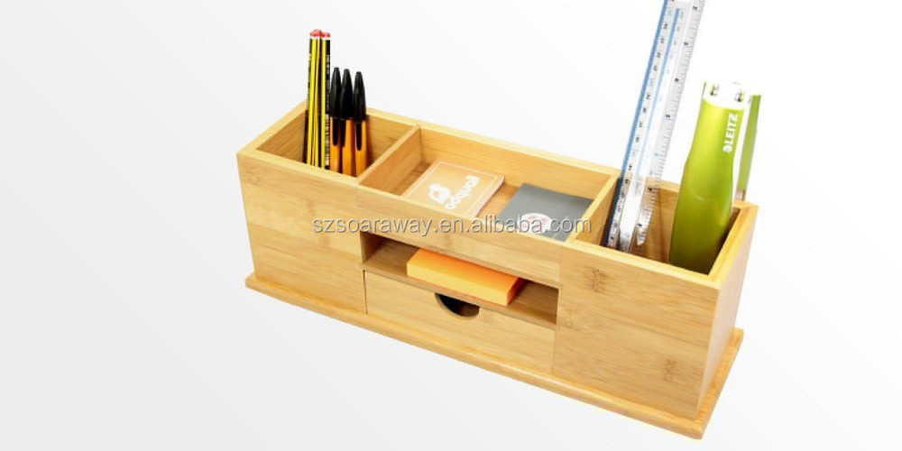 Bamboo Stationery Organizer, High Quality Stationery Organize,Bamboo Desktop Drawer Storage Box