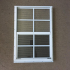 Aluminum Double Pane Glass Window With Tempered Glass