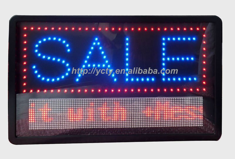 Free Moving SALE Sign; Programmable LED Electronic Signs SALE