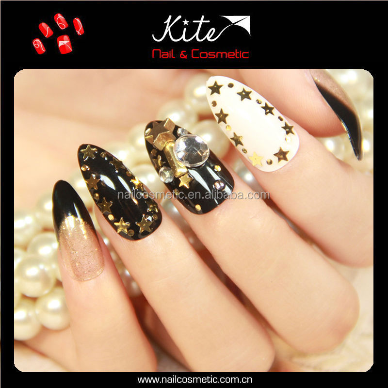 Artificial Finger Nails Designed Fake Nail Art /abs Fake Nails For ...
