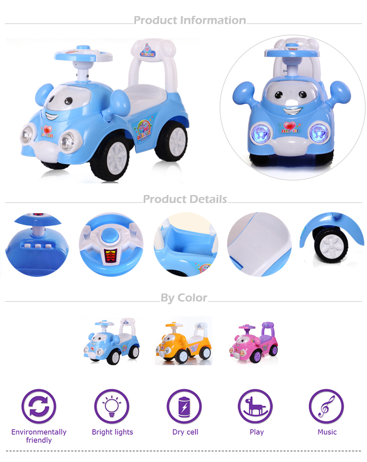 Alibaba china manufacturer wholesale cheap price newest model plastic happy ride on slide car toys for toddlers