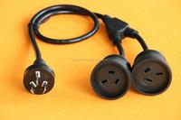 Mains Power Extension Lead Cord Standard Australian AU 3-Pin Plug Y Mains Splitter Cable
