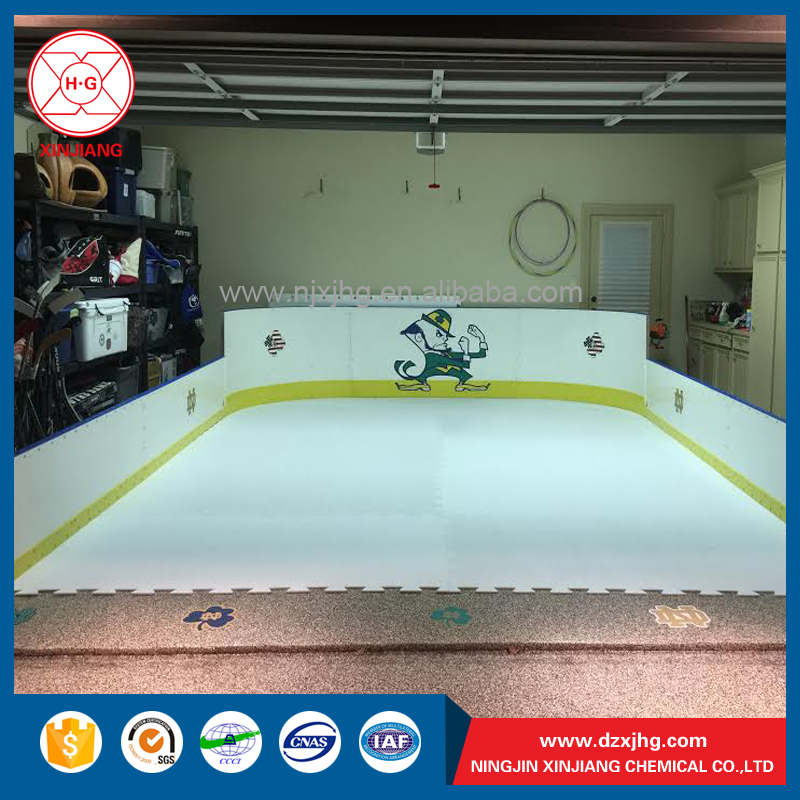 HDPE plastic ice hockey rink guard wall