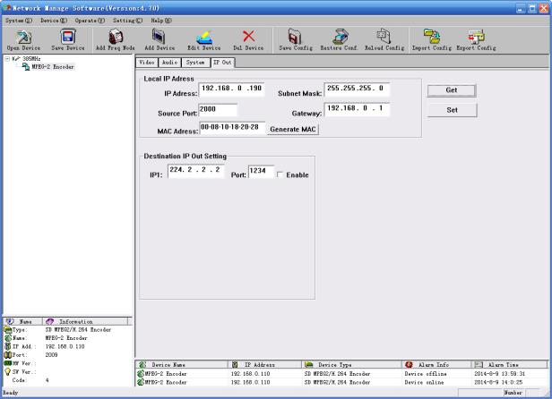 1104 Av Sdi Mpeg2 H264 Mpeg4 Sd To Ip Asi Encoder With Sdi Embedded Audio /  Udp Rtp Output Catv Equipment Encoder - Buy Sdi To Ip Converter,Ip