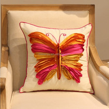 2014 fashion Home furnishing new handmade embroidered pillow covers cotton hand embroided cushion cover