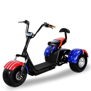 Europe Stock EEC Motorcycle Citycoco Fat Tire Adult Three Wheels Electric Scooter for sale