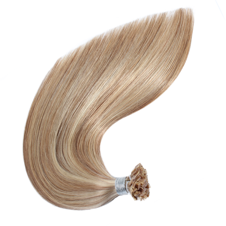 100 European best quality double drawn flat tip hair extensions