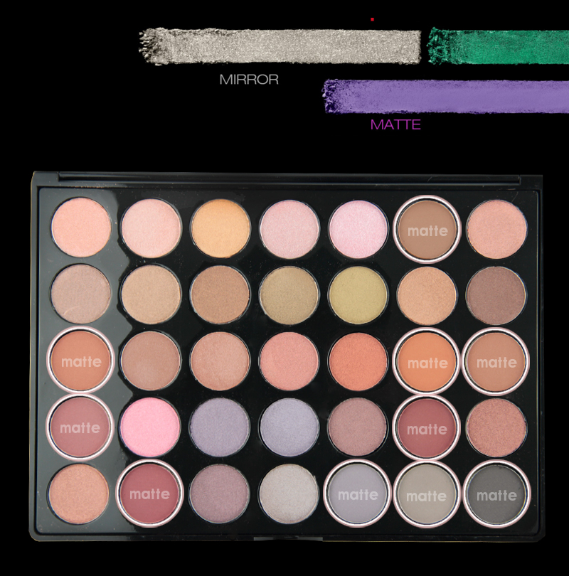 No Brand New Matte Glitter Eyeshadow Makeup custom logo 35 colors eyeshadow pan palette with high quality