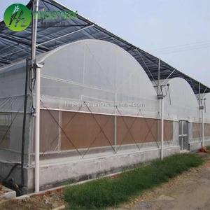 Commercial/agricultural tropical reinforced plastic modular greenhouse