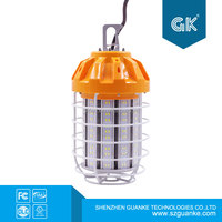 60w Portable yellow cage LED temporary working light job site working lamp with surge protection