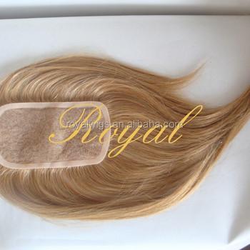 Blonde Hair Topper Hair Pieces Closure For