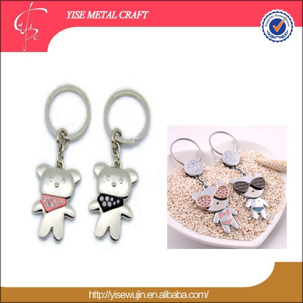 Lover Theme metal zinc alloy keychain keychain for Valentine's Day