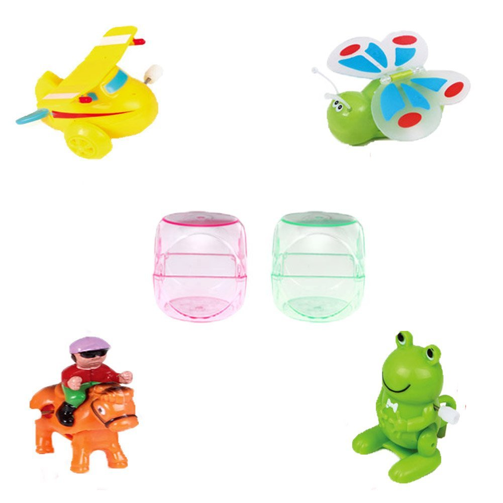 Buy Ymiss 4pcs Wind Up Tumbling Plane and Animals Tabale Toys for ...