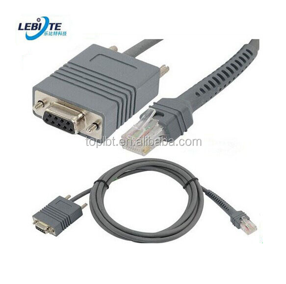 Rs232 To Rj50 Cable With Dc Power For Cba R08 S07zar Symbol Barcode