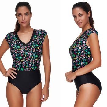 5018b7f787a Wholesale Tribal Print Short Sleeves High Waisted One Piece Plus Size  Slingshot Bikini