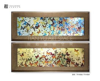 Pure Hand Painted 3d Butterfly Scenery Art Drawing Wall Decor