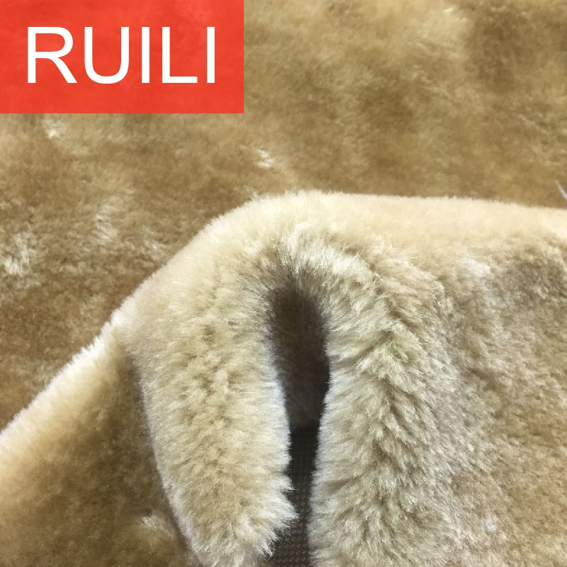 plain dyeing short hair polyester pet bed material faux artificial plush fur fabric