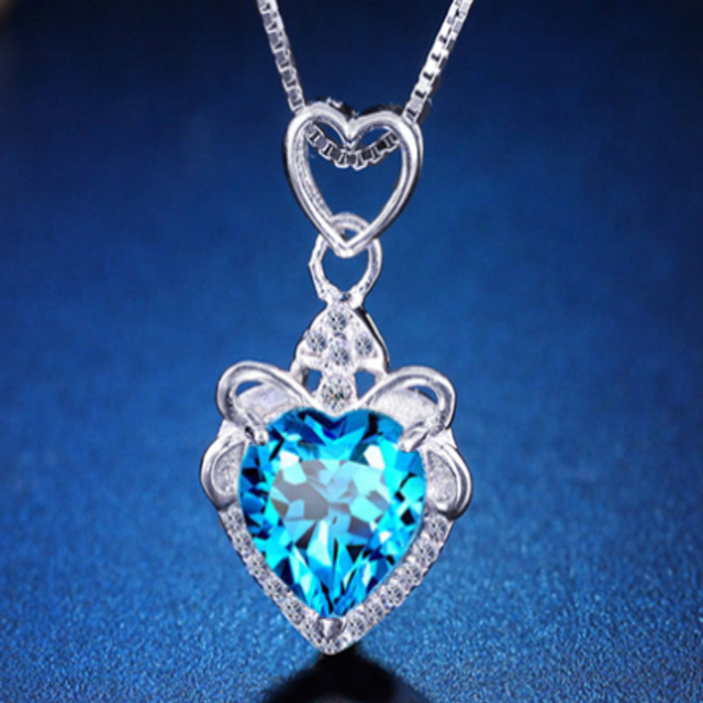 Broken Heart Pendant Necklace Jewelry <strong>Silver</strong> Wholesale Free Shipping