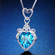 Broken Heart Pendant Necklace Jewelry Silver Wholesale Free Shipping