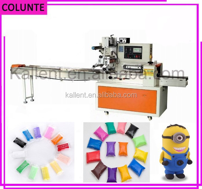 Full automatic manual play dough flow packing machine
