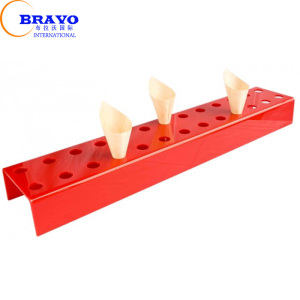 26 holes Wedding Party Red color Perspex Ice Cream Cupcake Display Stand