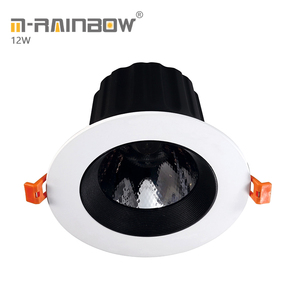3 years warranty antiglare adjustable 1200lm ceiling lighting 4 inch led COB lights 12w led downlight cob downlight black