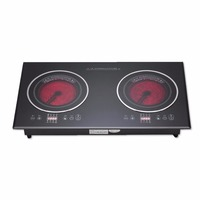 China Manufacturer clay pot induction cooker electric double burner all metal induction ceramic cooker