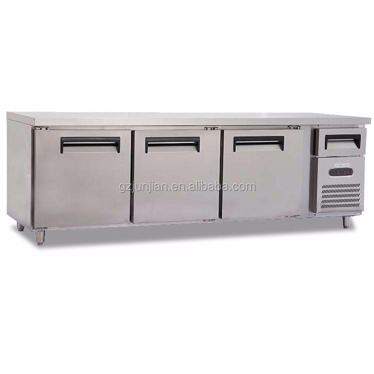De Trabajo Industrial Banco Refrigerador De La Mesa De Nevera-congelador  Hotel Cocina - Buy Refrigerador De Banco De Trabajo,Congelador De Mesa De  ...