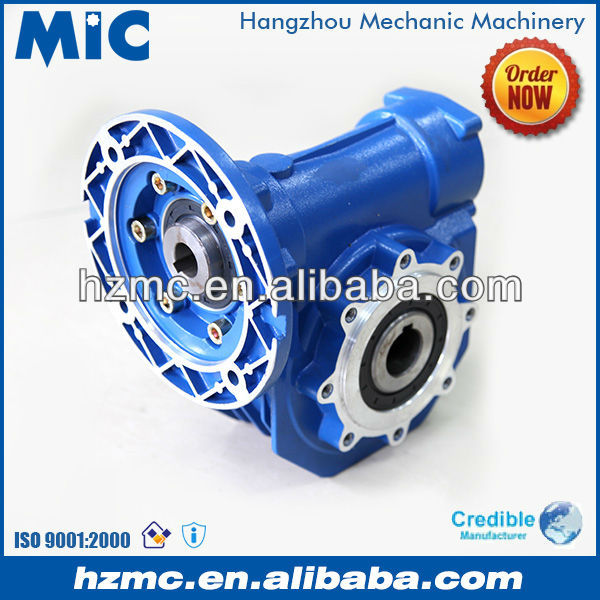 90 Degree 1:7.5 Ratio Speed Reduction Gearbox for Motor