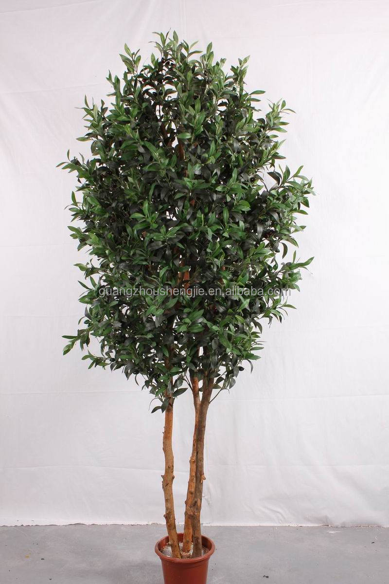 garden decoration trees artificial plastic fake olive tree
