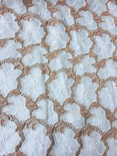 2017 laser cutting applique white & gold mesh embroidery lace fabric