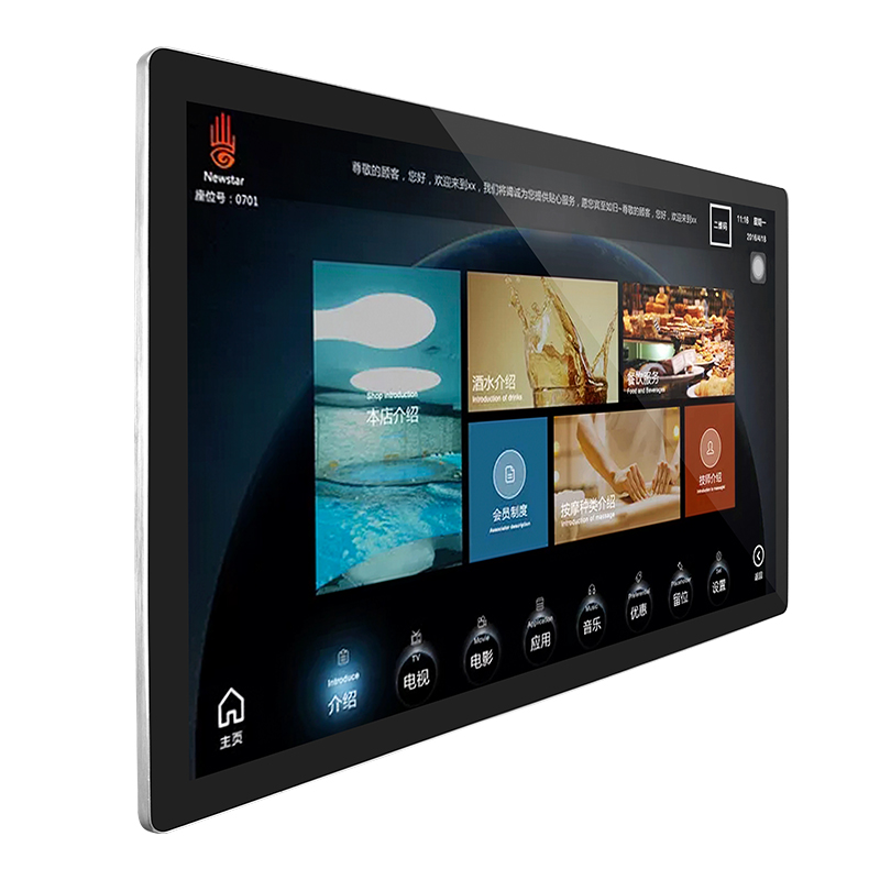 "Wall Mount Industrial Open Frame 43"" Touch Screen Monitor Capacitive 10 Points Free Drive Touch"
