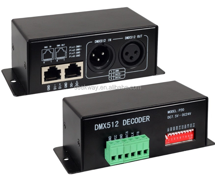 Seekway Ds01 Dmx-spi Signal Decoder Compatible For Tm1803,Bs0825 ...