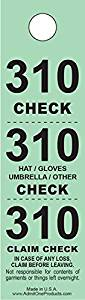 Three-Part Coat Room Checks -- Coat Check Tags -- 3 Part Green -- 500 Count