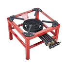 High quality red powder coated commercial single burner gas stove