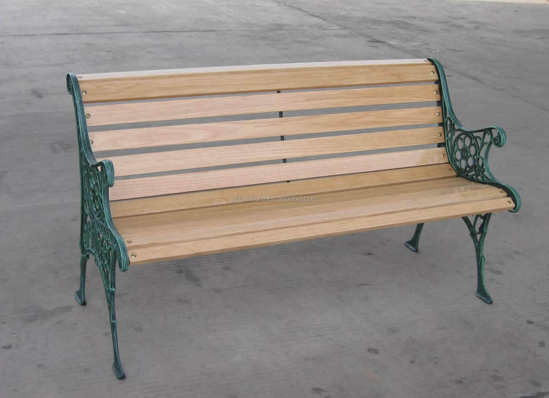 Outdoor Cast Iron Garden Bench Buy Wooden Slats With Cast Iron Legs 3 Seater Wooden Outdoor