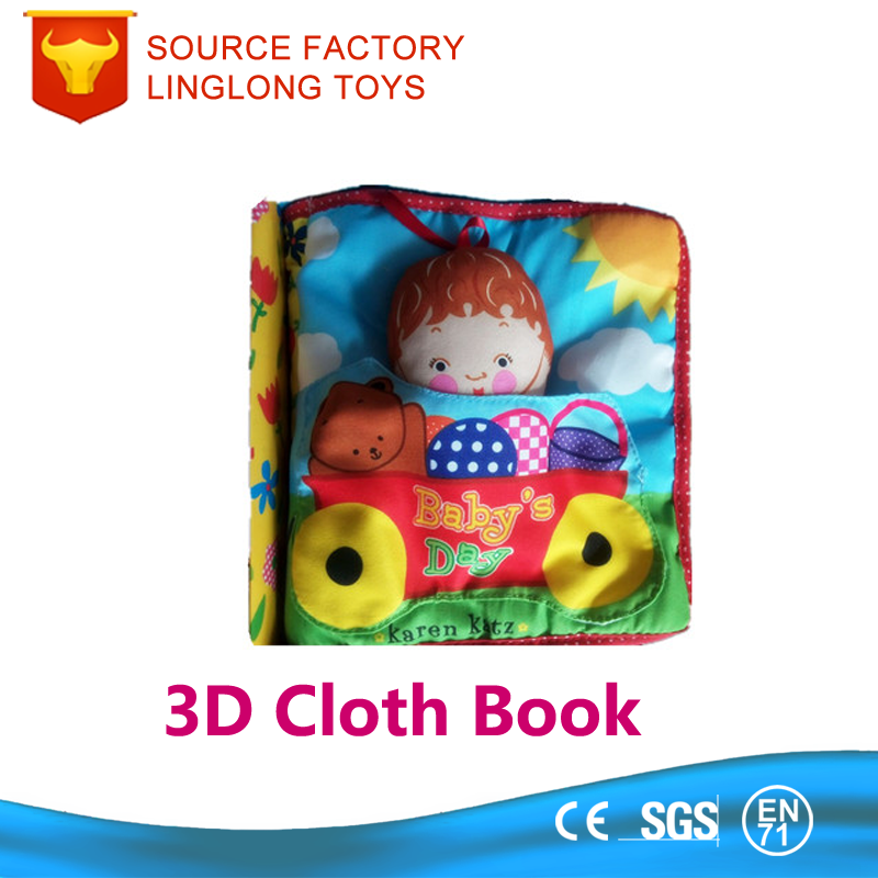 Educational Toy Hand-Held Blue Sleeping Baby 3D Cloth Book