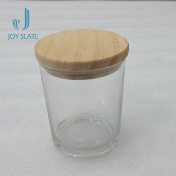 Hurricane With Lid Marble Votive Clear Glass Candle Holder
