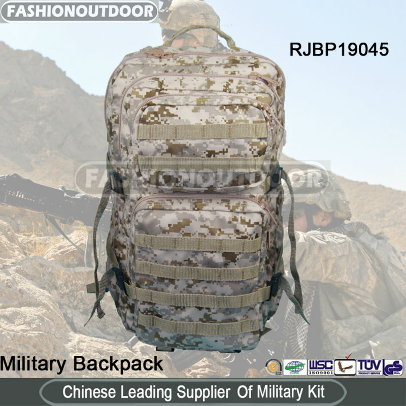 Digital Camo military assault pack molle pack patrol backpack