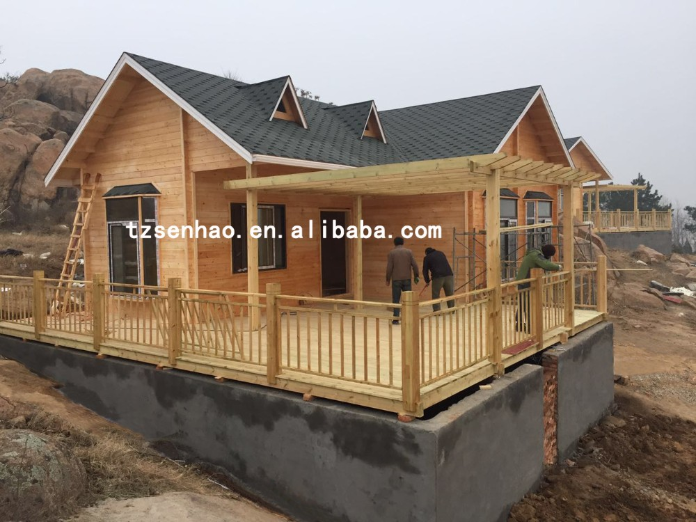 Europe style beautiful wooden prefabricated houses villa cheap for living factory price taizhou real estate wooden homes