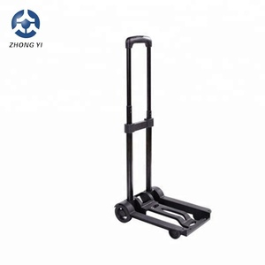 Plastic compact lightweight luggage cart for shopping