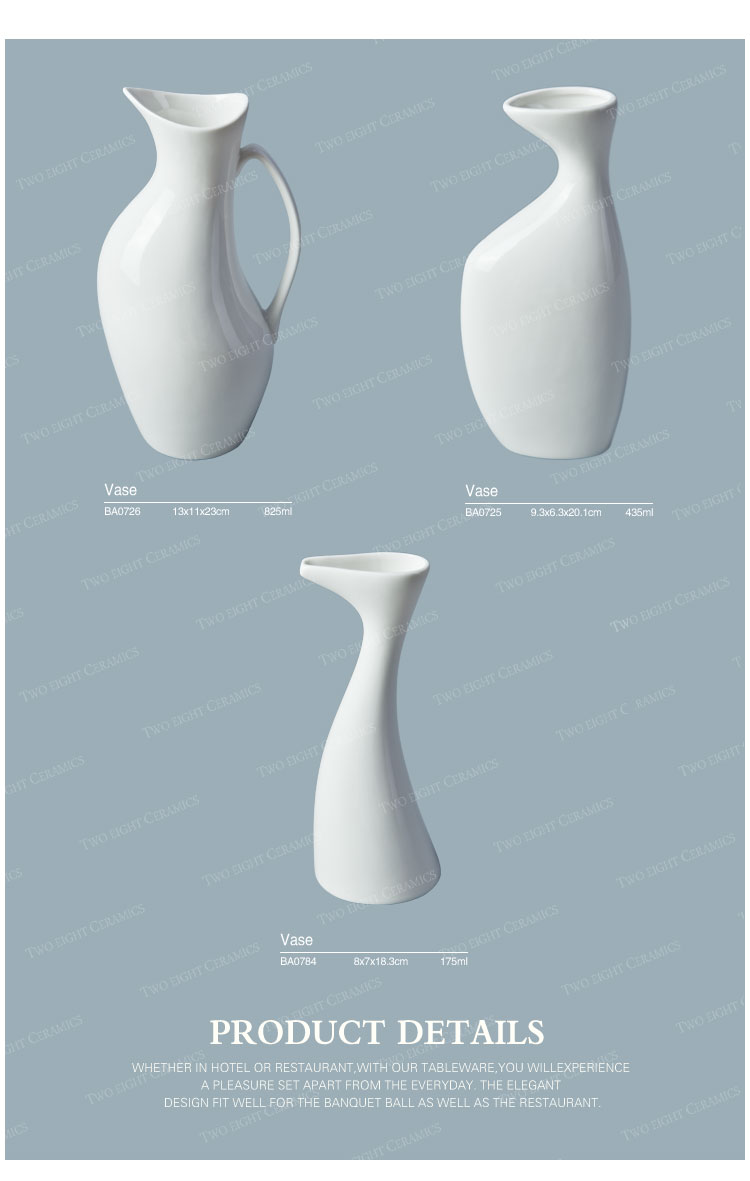 2017 New Design Wholesale Various Elegant White Ceramic Porcelain Flower Vase, Restaurant Quality Tableware Vases^