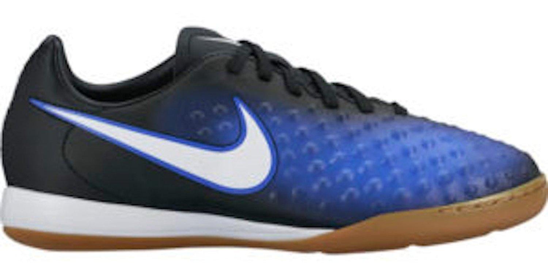 05d6842bcdb7e Get Quotations · Nike Kids' Jr. Magista Opus IC Indoor Soccer Shoe (Black,  Paramount Blue