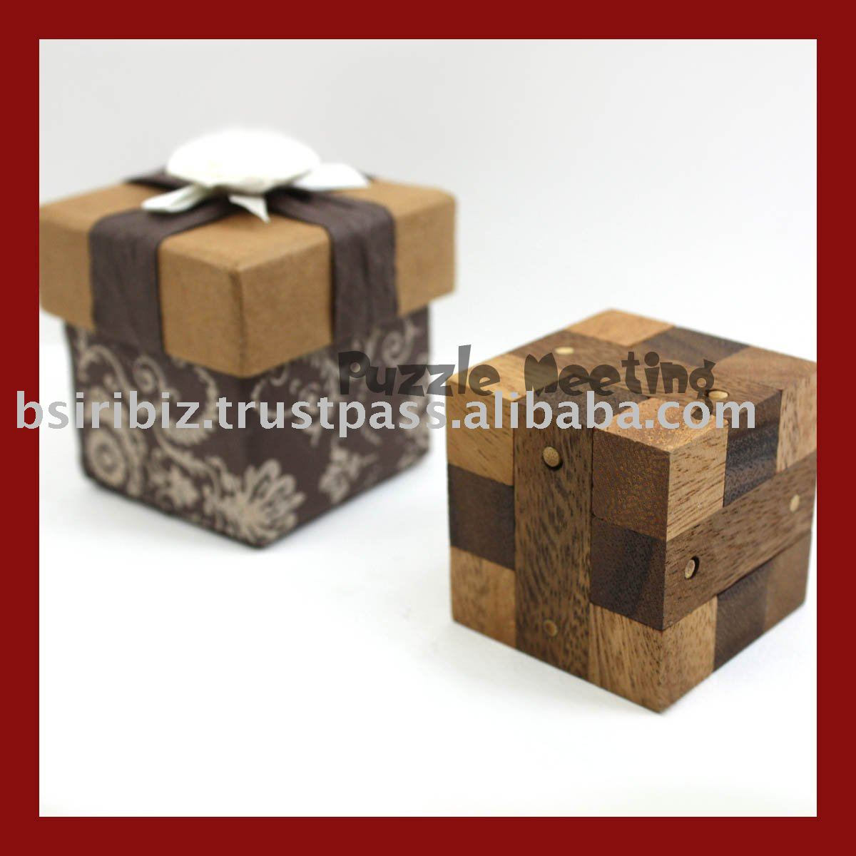 promotional item 3D wooden puzzle with gift box