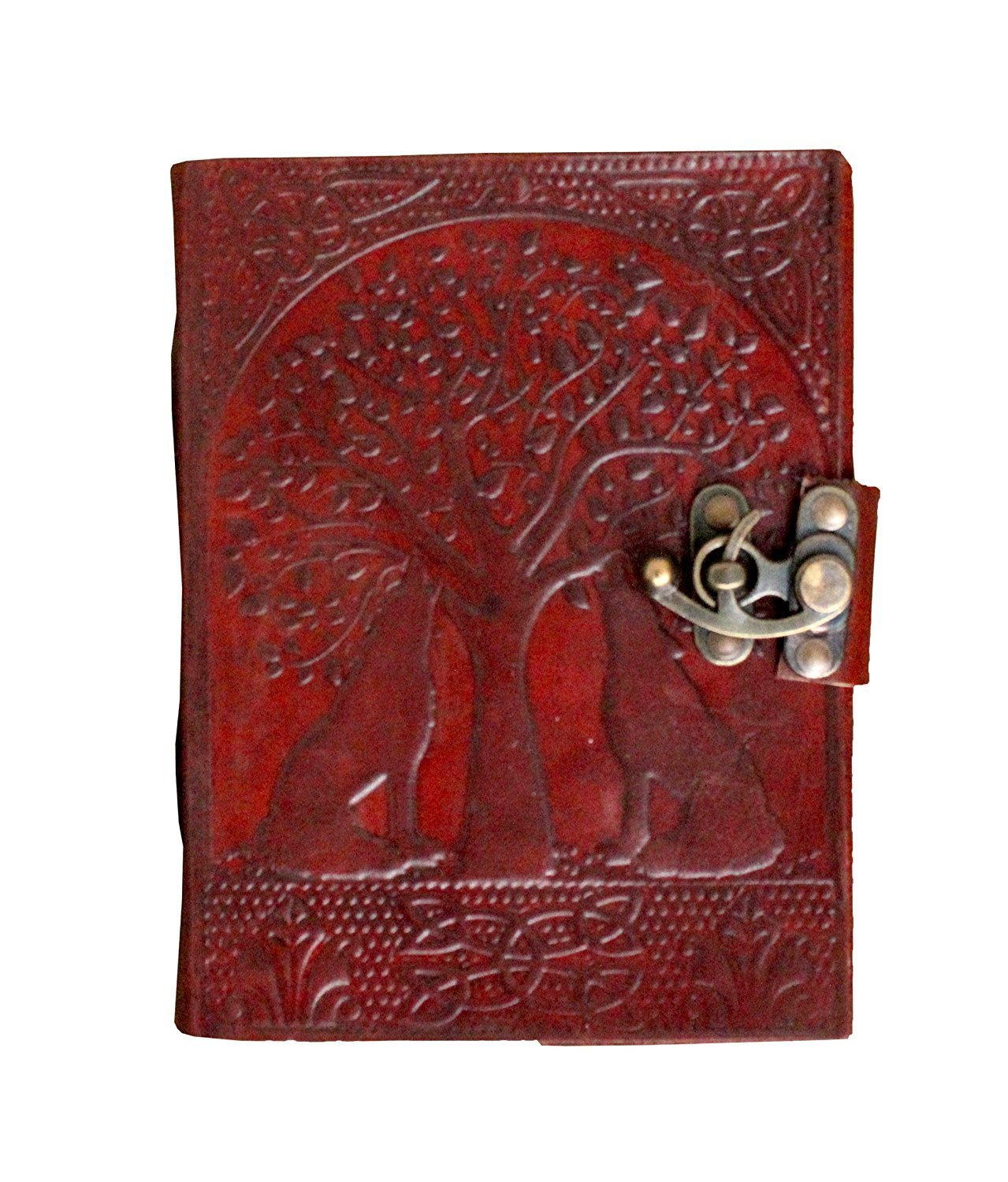BHAVYA Leather & Handmade Paper Diary Notebook Journal For Personal Use or Gift Size 5x7