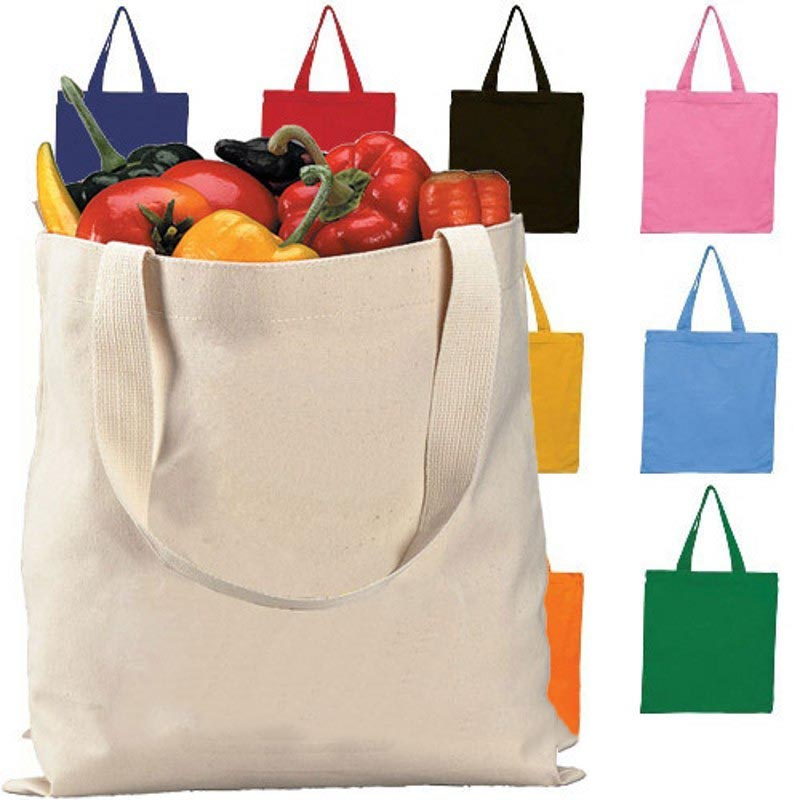 Hot sale custom cotton recycle canvas tote rope handle shopping bag