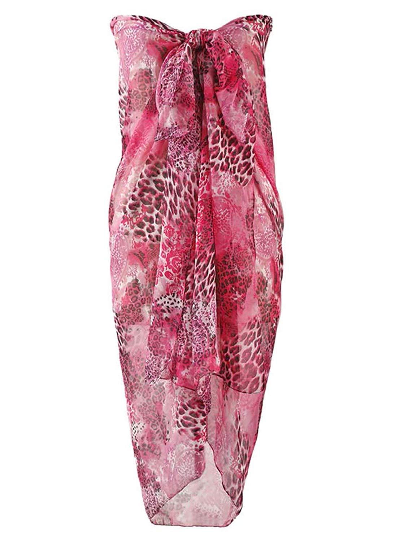 a1a0f33b8ca42 Buy Luxury Divas Fuchsia Hot Pink Sarong Knee Length Bathing Wrap in ...